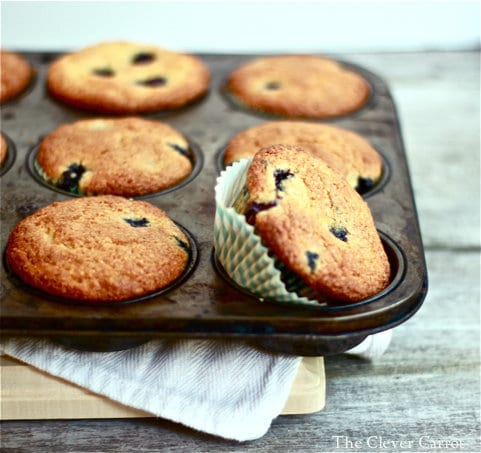 blueberry muffins, muffin tray