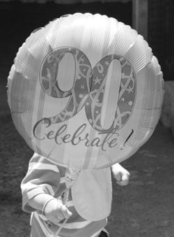 90th balloon