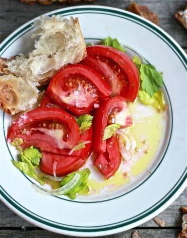 tomato salad plate