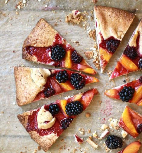 Blackberry Nectarine Tart