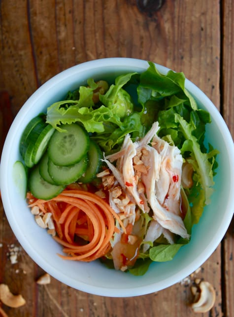 Asian Turkey Salad / The Clever Carrot