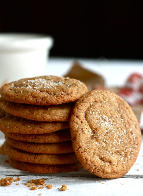 Buttery Gingernut Cookies / The Clever Carrot
