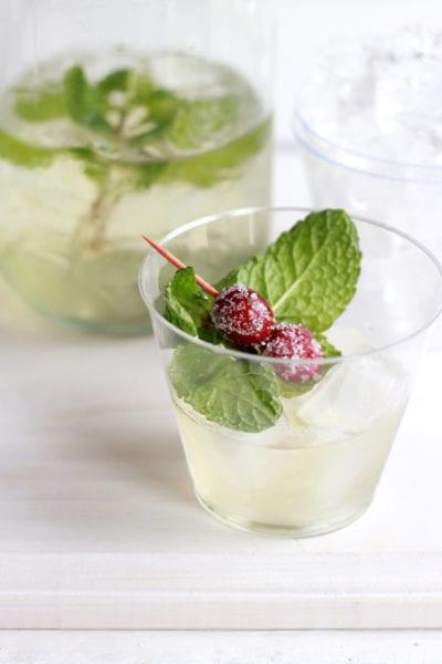 fresh cranberry yogurt drink   theclevercarrot.com