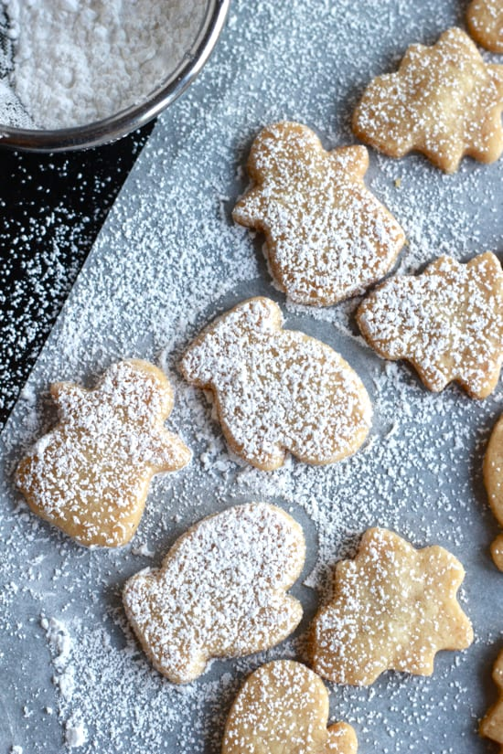 Santa's Shortbread Cookies | The Clever Carrot