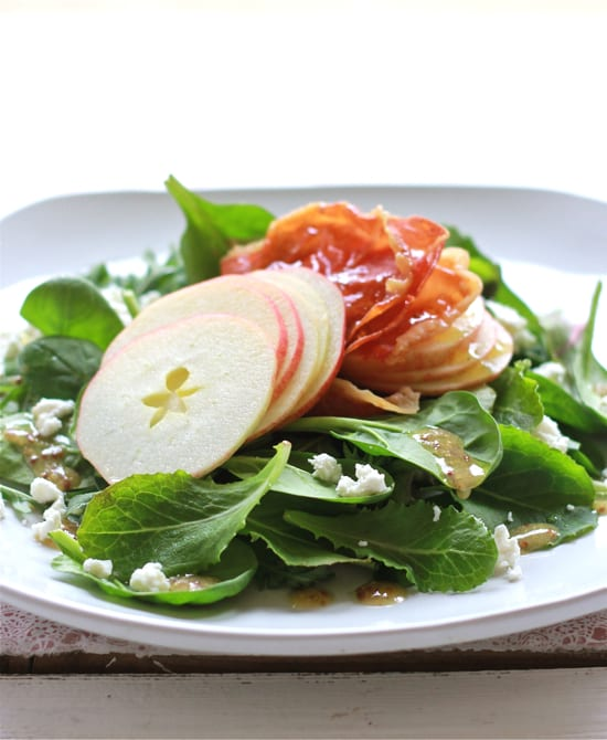 shaved apple + prosciutto salad | The Clever Carrot