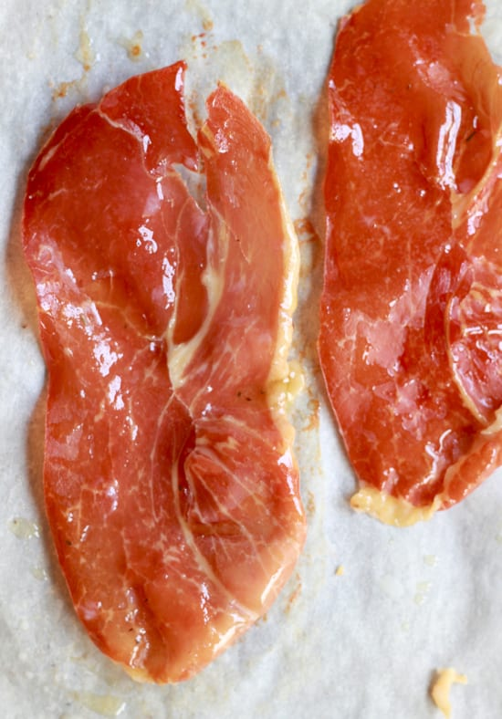 crispy prosciutto slices | The Clever Carrot