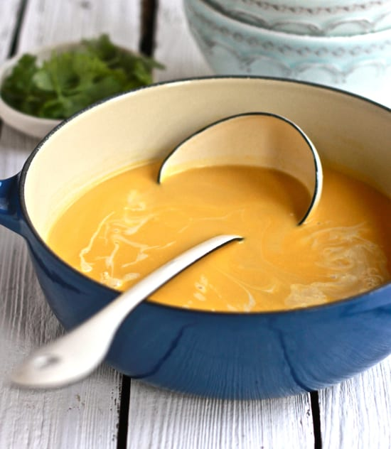 golden thai coconut soup | The Clever Carrot