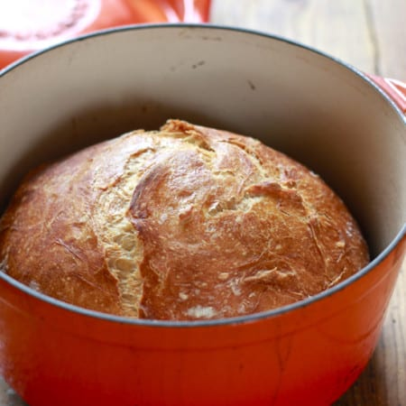 No knead honey whole wheat bread