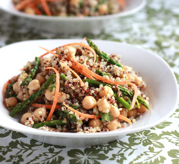 Curried Quinoa + Asparagus Salad   theclevercarrot.com