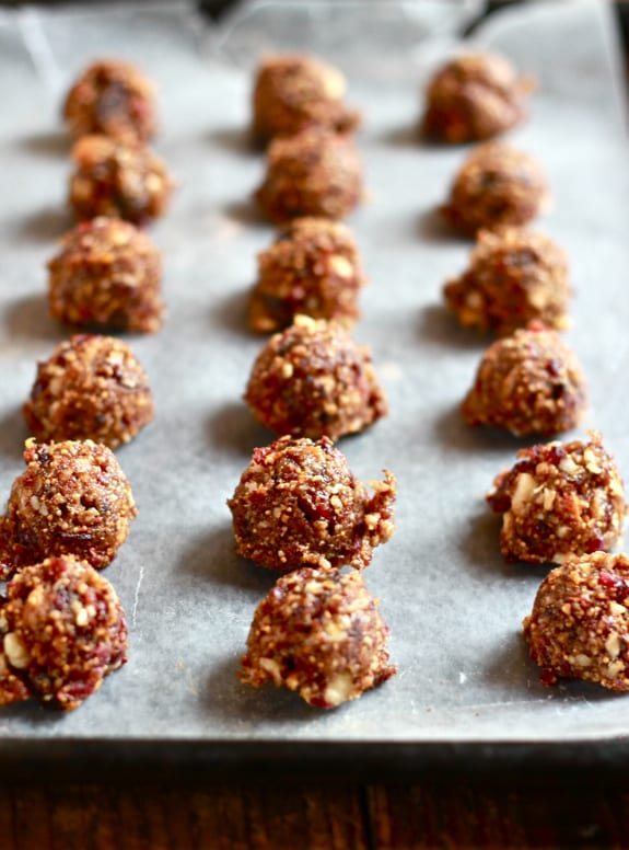 fig + cherry paleo bites | The Clever Carrot