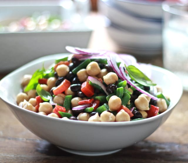 honey balsamic 3 bean salad | The Clever Carrot