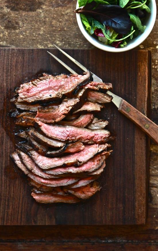 hawaiian marinated flank steak | The Clever Carrot