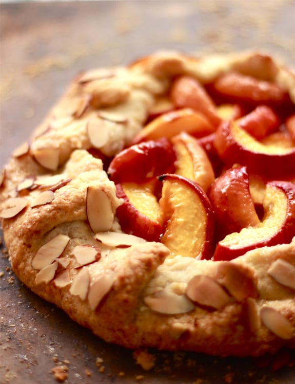 summer peach galette | The Clever Carrot