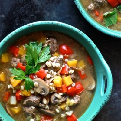 Beef & Barley Soup | theclevercarrot.com