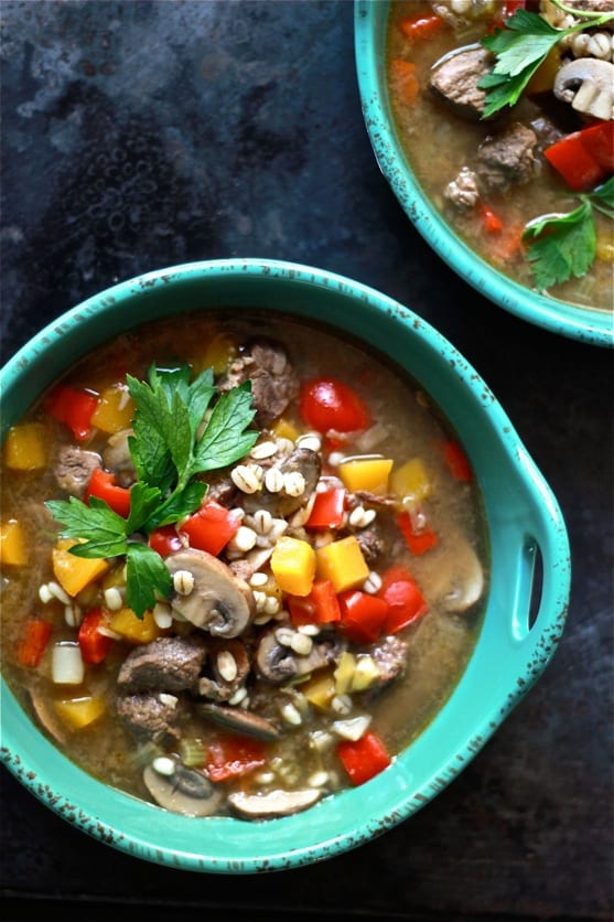 beef + barley soup | The Clever Carrot
