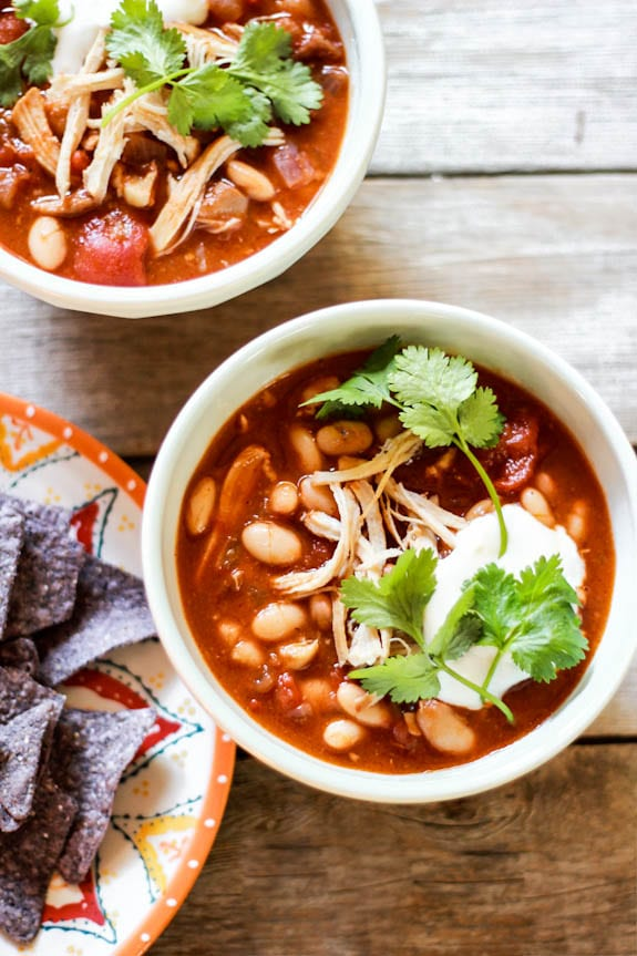 slow cooker chicken chili   The Clever Carrot
