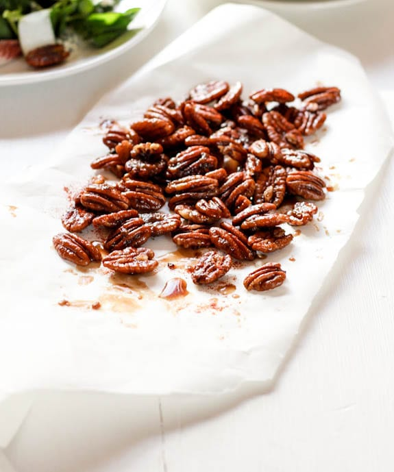 brown sugar glazed pecans | The Clever Carrot