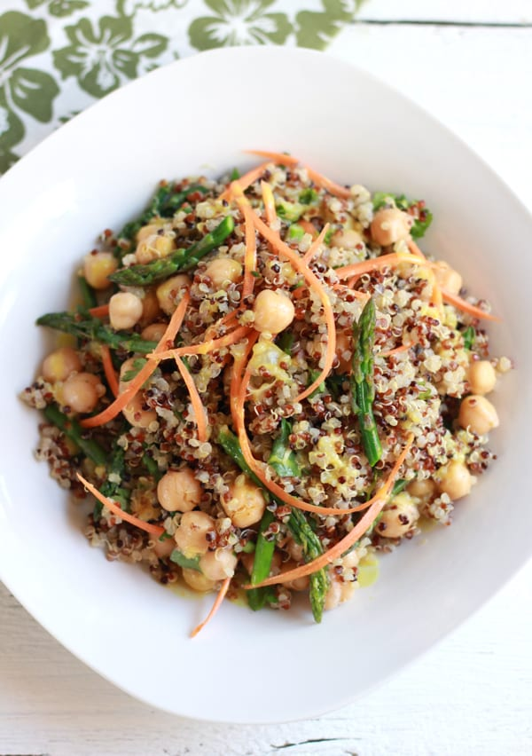 curried quinoa + asparagus salad | The Clever Carrot
