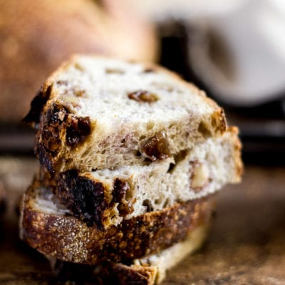 Country Sourdough with Walnuts + Raisins