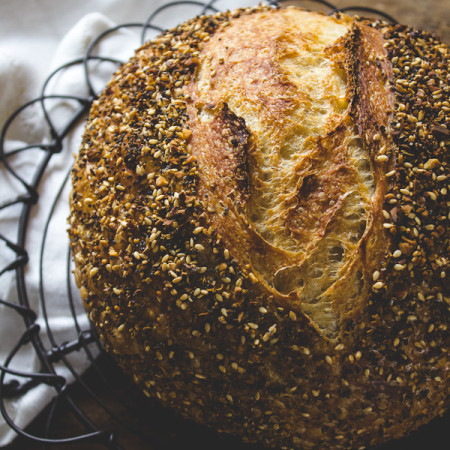 dukkah sourdough | The Clever Carrot