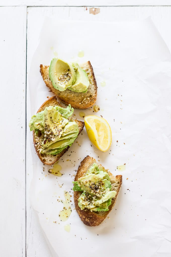 smashed avocado on dukkah sourdough | The Clever Carrot