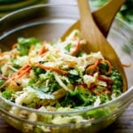 chinese chicken cabbage salad theclevercarrot.com