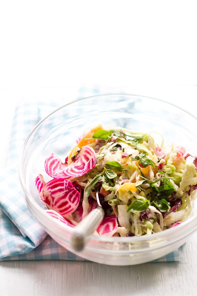 summer crunch salad with creamy caesar dressing   www.theclevercarrot.com