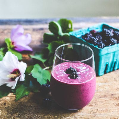 blackberry ginger smoothie