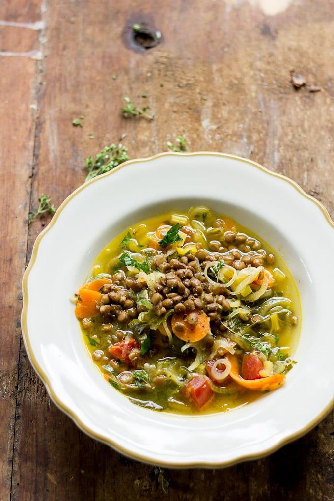 cheat's lentil soup | theclevercarrot.com