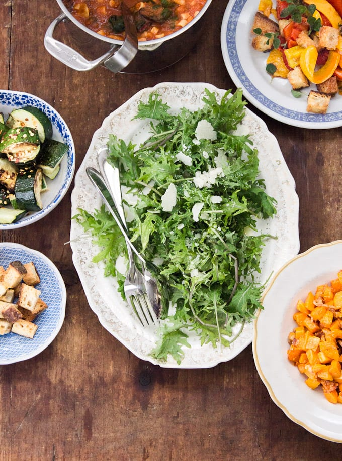a vegetarian feast | theclevercarrot.com