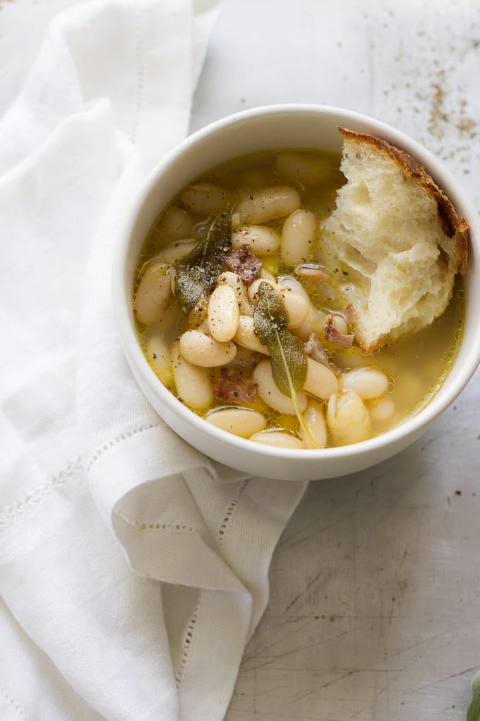 tuscan white bean soup, 2 ways | theclevercarrot.com