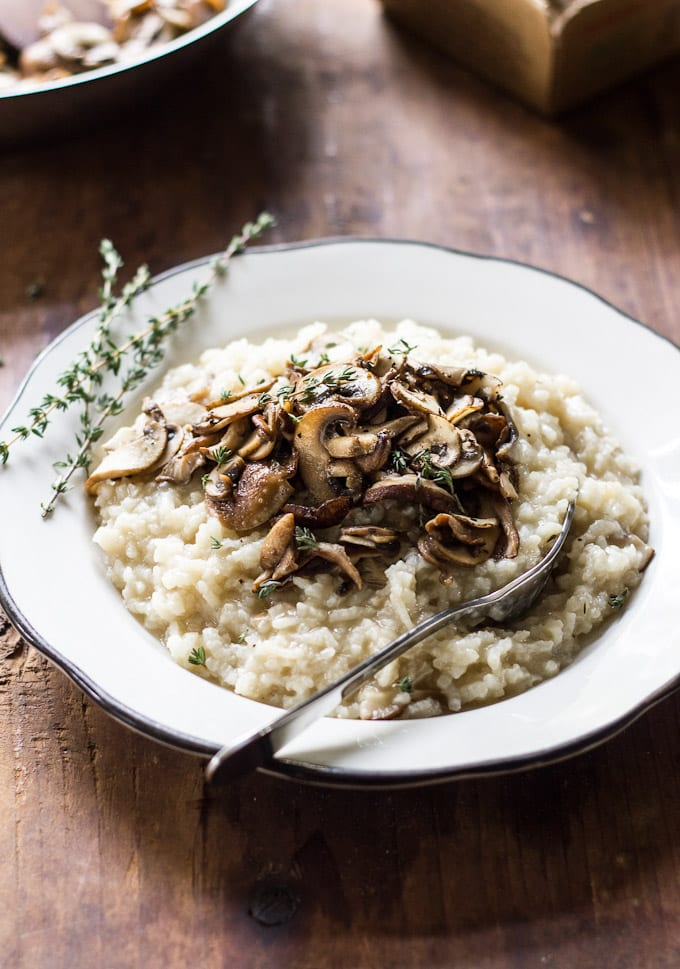 baked wild mushroom risotto | theclevercarrot.com