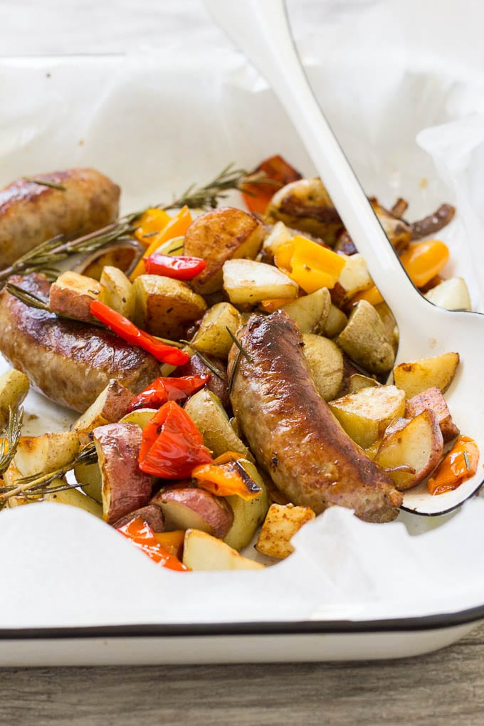 italian sausage bake   theclevercarrot.com