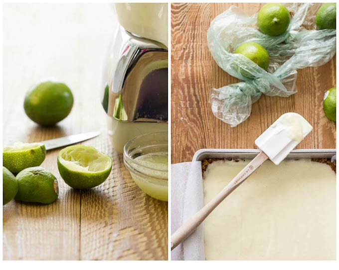 lightened up key lime bars {without condensed milk} | theclevercarrot.com