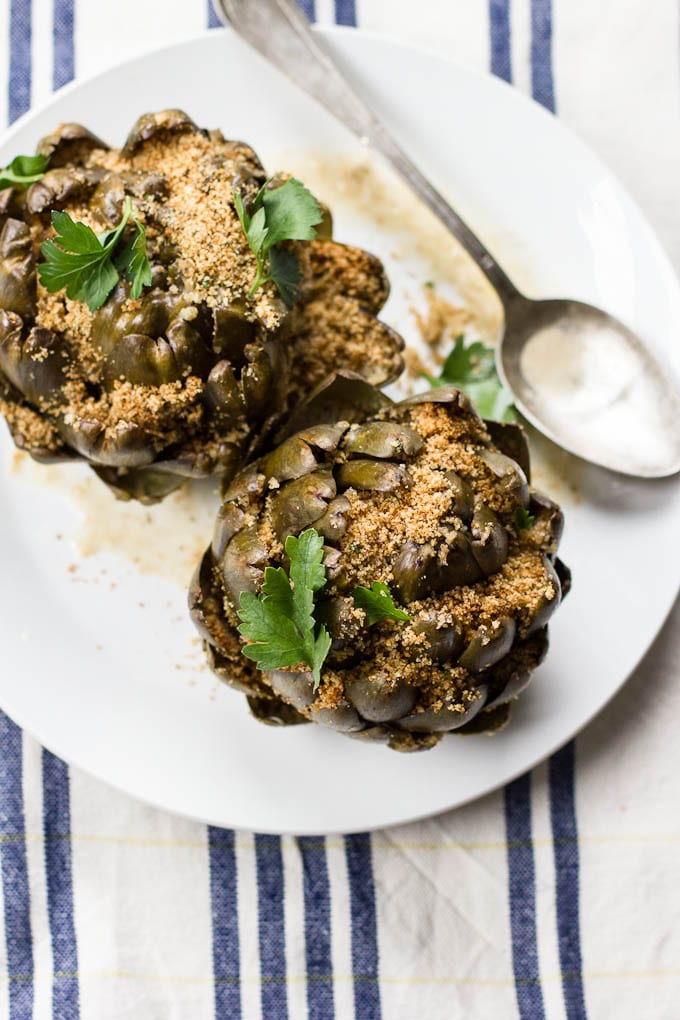 stuffed artichokes | theclevercarrot.com