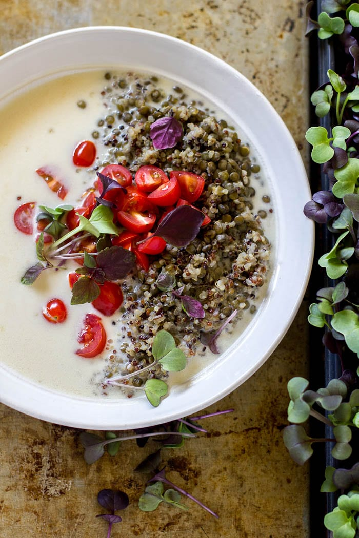 coconut quinoa power bowls |theclevercarrot.com