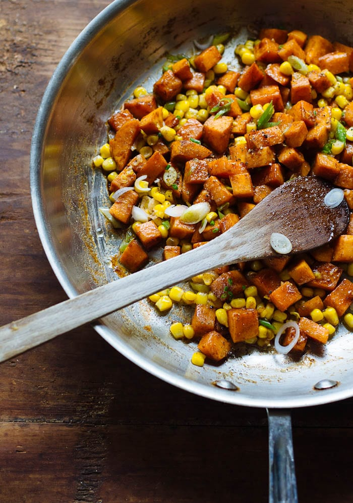 ally's skillet spiced yams | theclevercarrot.com