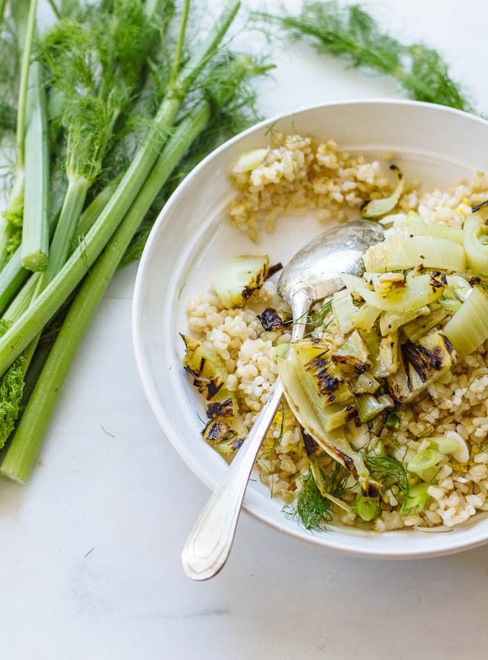 grilled fennel & brown rice salad | theclevercarrot.com