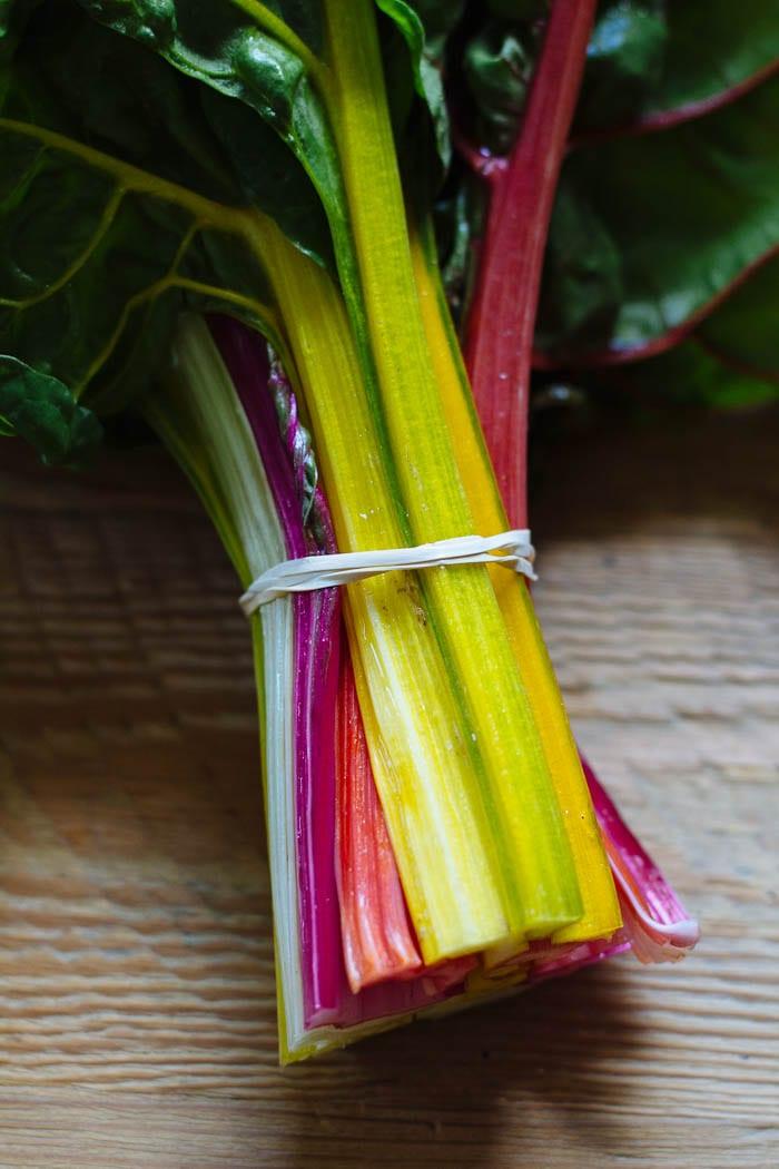 sauteed rainbow chard | theclevercarrot.com