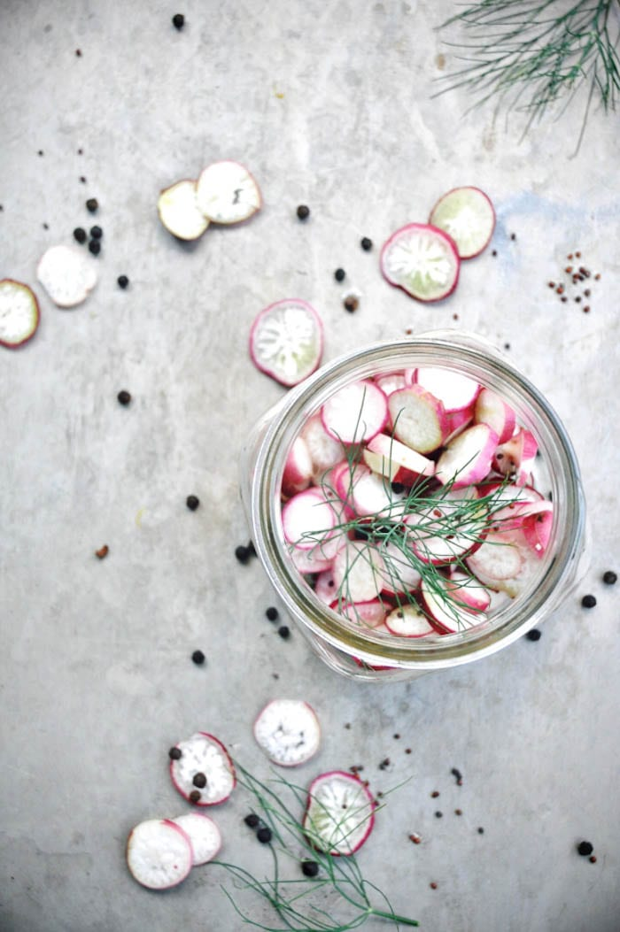 Spicy Quick Pickled Spring Radishes- Holly & Flora
