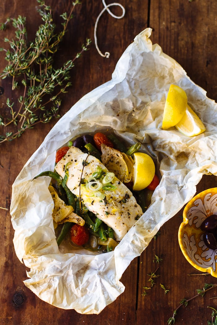 baked fish in parchment | theclevercarrot