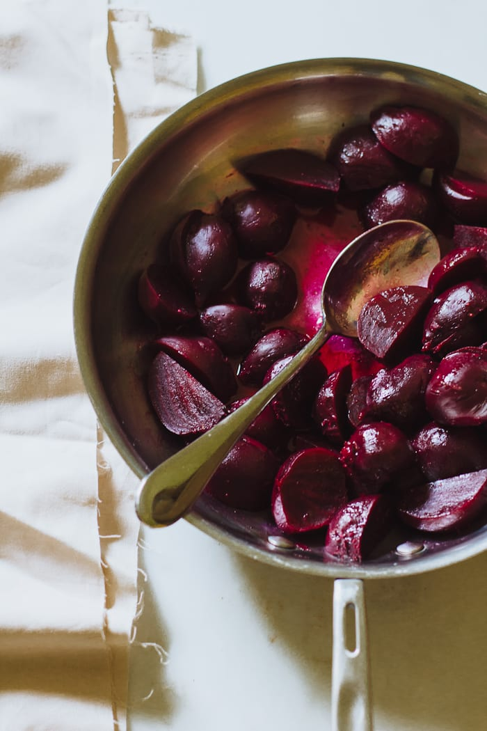 cooking in the barn & scrumptious buttered beets | theclevercarrot.com