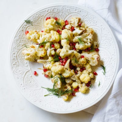 roasted christmas cauliflower salad