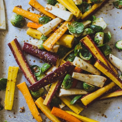 maple roasted harvest vegetables