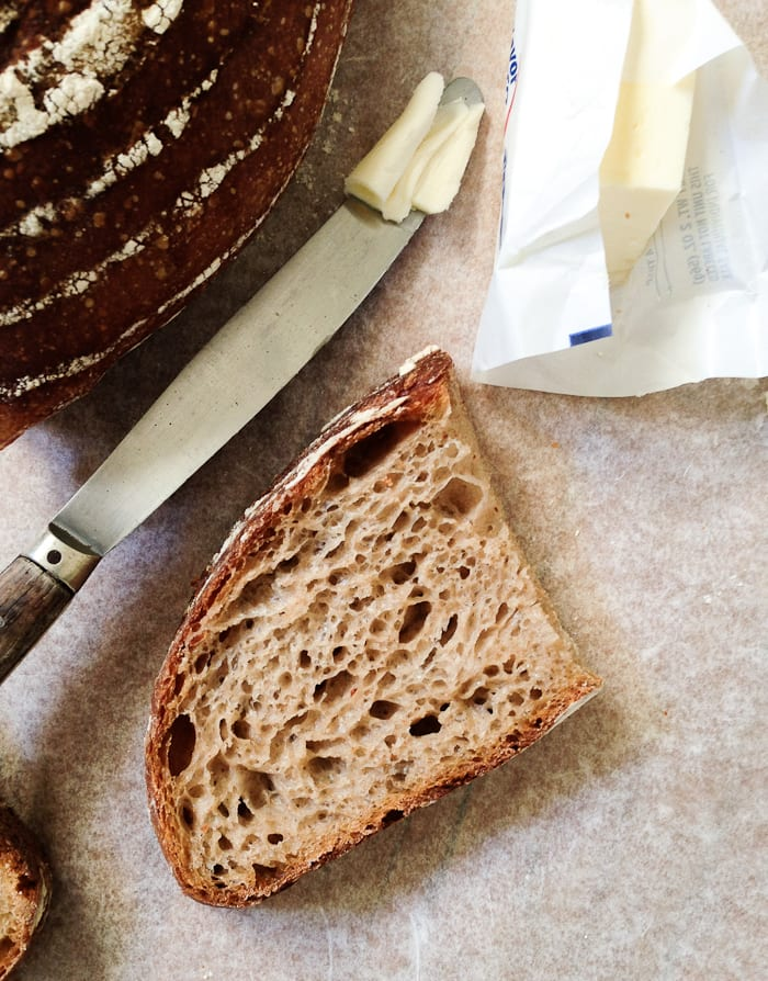 whole grain sourdough bread | theclevercarrot.com