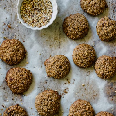 fast healthy nut & seed breakfast cookies