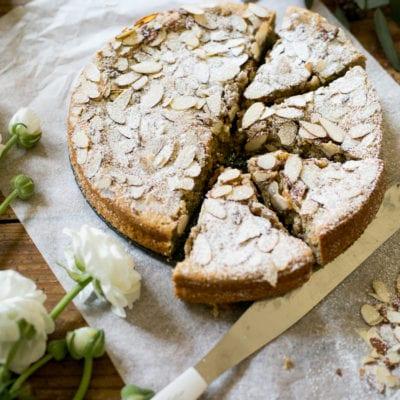 italian almond ricotta cake, my way.