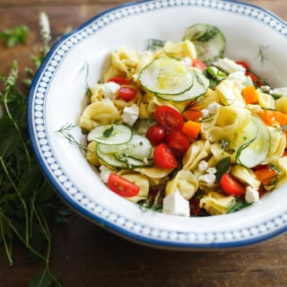 greek tortellini salad | theclevercarrot.com