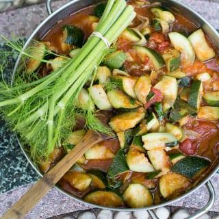 tomato basil zucchini |theclevercarrot.com