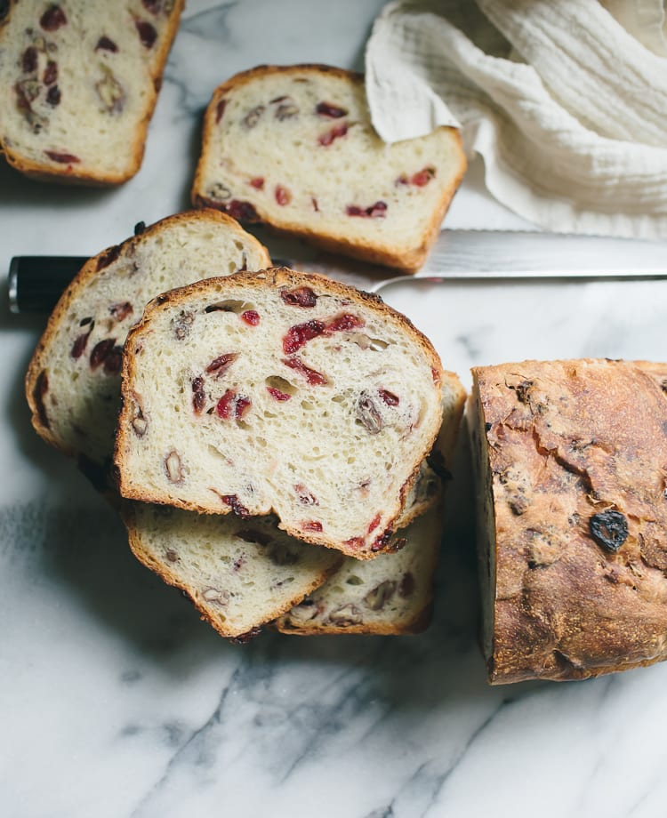 Overnight Cranberry Pecan Sourdough The Clever Carrot
